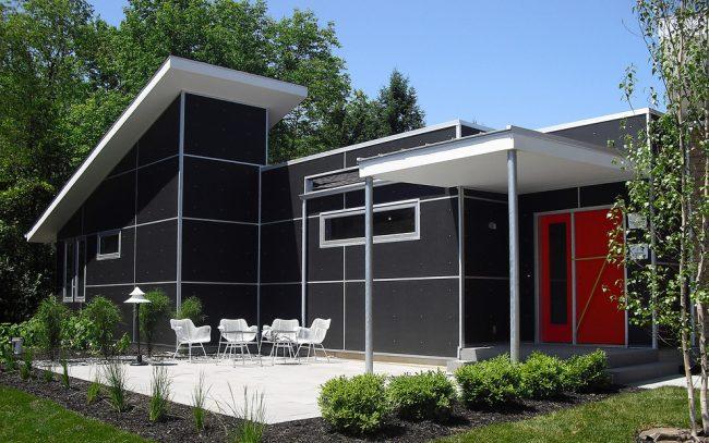 Благодаря гибкой структуре фасадные плиты можно применить для отделки сложных архитектурных строений