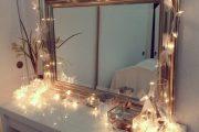 Фото 12 Гримерное зеркало с лампочками: 75 элегантных идей для гардеробной, спальни и ванной