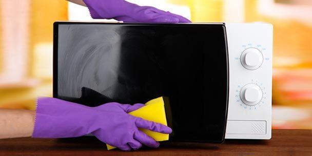 как быстро помыть микроволновку внутри: чистка микроволновки снаружи