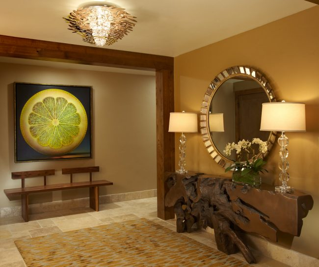 Консоль для гостиной: деревянная консоль оригинальной формы