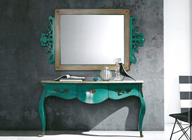 Яркий акцентный набор консоль + зеркало