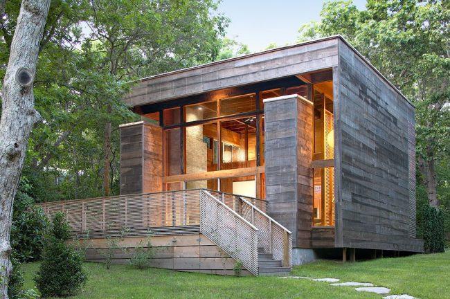 Каркасно-щитовой дом в стиле модерн
