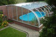Фото 17 Навесы для бассейна из поликарбоната: 75+ решений для полноценного отдыха и релаксации