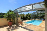 Фото 4 Навесы для бассейна из поликарбоната: 75+ решений для полноценного отдыха и релаксации