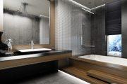 Фото 5 Обои под бетон (100 фото): очарование лофта в интерьере современной квартиры