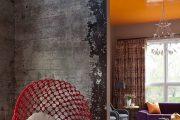 Фото 15 Обои под бетон (100 фото): очарование лофта в интерьере современной квартиры