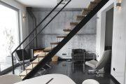 Фото 33 Обои под бетон: очарование лофта в интерьере современной квартиры