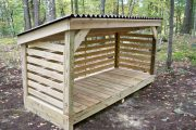 Фото 8 Поленница для дров: виды конструкций и 70 практичных вариантов для частного дома