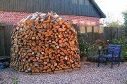 Фото 6 Поленница для дров: виды конструкций и 70 практичных вариантов для частного дома