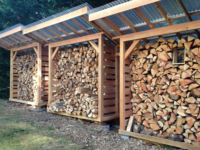 Как самому сделать навес для дров