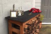 Фото 17 Поленница для дров: виды конструкций и 70 практичных вариантов для частного дома