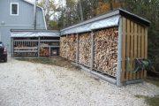 Фото 18 Поленница для дров: виды конструкций и 70 практичных вариантов для частного дома