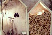 Фото 21 Поленница для дров: виды конструкций и 70 практичных вариантов для частного дома
