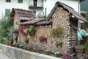 Фото 2 Поленница для дров: виды конструкций и 70 практичных вариантов для частного дома