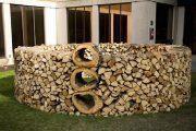 Фото 28 Поленница для дров: виды конструкций и 70 практичных вариантов для частного дома