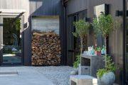 Фото 34 Поленница для дров: виды конструкций и 70 практичных вариантов для частного дома