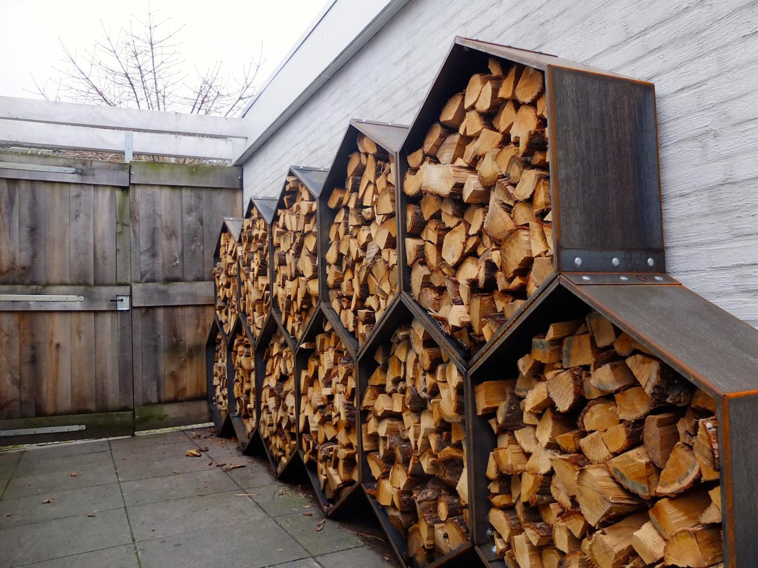Поленница для дров своими руками 49