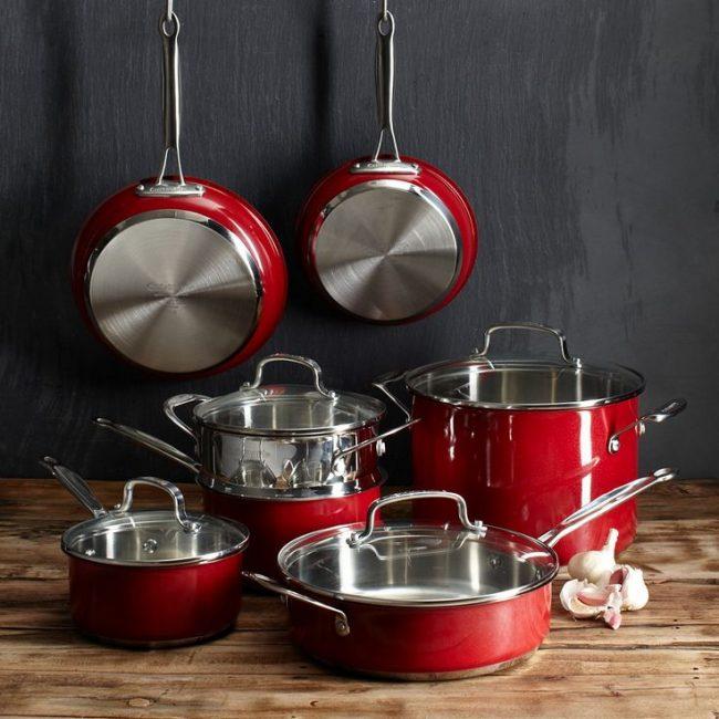 Набор посуды из нержавеющей стали с двойным дном