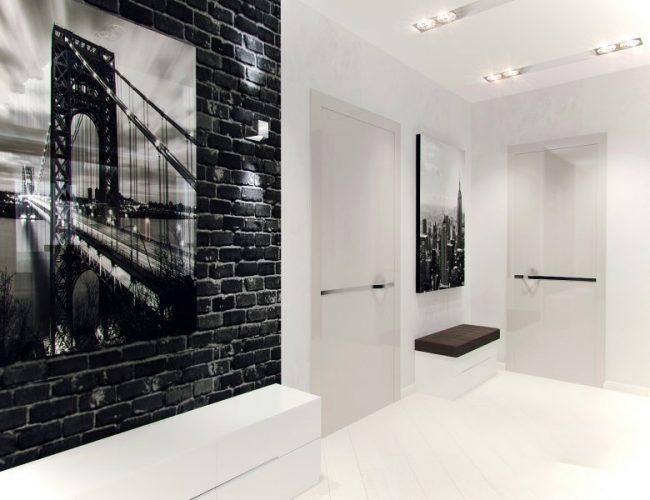Декор стен в характерных стилю оттенках