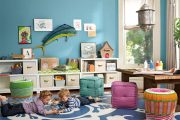 Фото 23 Шкафы для игрушек в детскую комнату: 90 ярких и практичных решений для вашего малыша