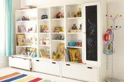 Фото 24 Шкафы для игрушек в детскую комнату: 90 ярких и практичных решений для вашего малыша