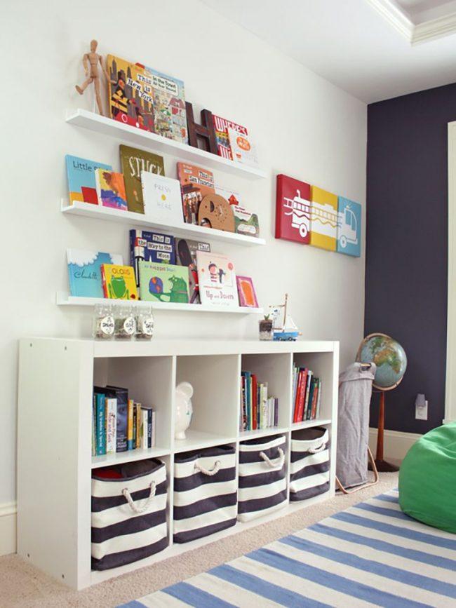 Шкафы для игрушек в детскую комнату: практичный дизайн - полки и ящики