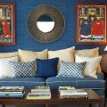 Синие обои в интерьере: 85 фотоидей для аристократического окружения фото
