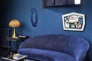 Фото 10 Синие обои в интерьере: 85 фотоидей для аристократического окружения