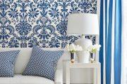 Фото 13 Синие обои в интерьере: 85 фотоидей для аристократического окружения