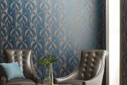 Фото 14 Синие обои в интерьере: 85 фотоидей для аристократического окружения