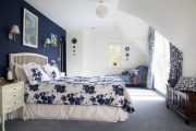 Фото 16 Синие обои в интерьере: 85 фотоидей для аристократического окружения