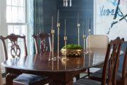 Фото 19 Синие обои в интерьере: 85 фотоидей для аристократического окружения