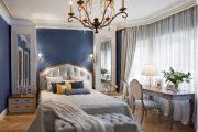 Фото 20 Синие обои в интерьере: 85 фотоидей для аристократического окружения
