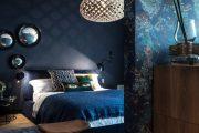 Фото 21 Синие обои в интерьере: 85 фотоидей для аристократического окружения