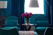Фото 23 Синие обои в интерьере: 85 фотоидей для аристократического окружения