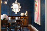 Фото 27 Синие обои в интерьере: 85 фотоидей для аристократического окружения