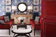 Фото 29 Синие обои в интерьере: 85 фотоидей для аристократического окружения