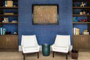 Фото 34 Синие обои в интерьере: 85 фотоидей для аристократического окружения