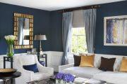 Фото 36 Синие обои в интерьере: 85 фотоидей для аристократического окружения