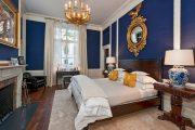 Фото 40 Синие обои в интерьере: 85 фотоидей для аристократического окружения