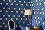 Фото 47 Синие обои в интерьере: 85 фотоидей для аристократического окружения
