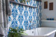 Фото 54 Синие обои в интерьере: 85 фотоидей для аристократического окружения