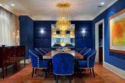 Фото 7 Синие обои в интерьере: 85 фотоидей для аристократического окружения