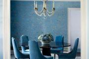 Фото 61 Синие обои в интерьере: 85 фотоидей для аристократического окружения