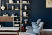Фото 69 Синие обои в интерьере: 85 фотоидей для аристократического окружения