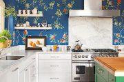 Фото 37 Синие кухни (100 идей): создаем современный и аристократичный интерьер в холодной цветовой гамме