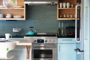 Фото 12 Синие кухни (100 идей): создаем современный и аристократичный интерьер в холодной цветовой гамме