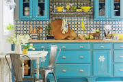 Фото 34 Синие кухни (100 идей): создаем современный и аристократичный интерьер в холодной цветовой гамме
