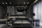 Фото 40 Черный потолок в квартире: 80 нестандартных и стильных реализаций
