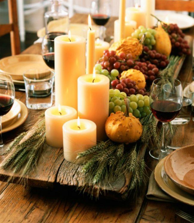 Оформление праздничного стола в деревенском стиле